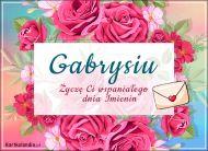 eKartki Imienne Damskie Wspaniałego dnia Imienin Gabrysiu,