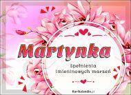 eKartki elektroniczne z tagiem: Kartka na imieniny Życzenia na Imieniny dla Martynki,