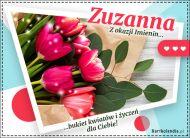 eKartki Imienne Damskie Zuzanna - Bukiet kwiatów,