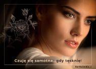 eKartki elektroniczne z tagiem: Darmowa e-kartka tęsknota Czuję się samotna!,