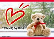 eKartki elektroniczne z tagiem: Darmowa e-kartka tęsknota Tęsknię za Tobą!,