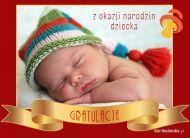 eKartki Wyraź uczucia -> Gratulacje Gratulacje z narodzin dziecka,
