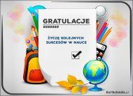 eKartki Wyraź uczucia -> Gratulacje Gratulacje dla super ucznia!,