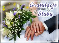 eKartki elektroniczne z tagiem: e-Kartka na ślub Gratulacje z okazji Ślubu!,