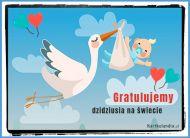 eKartki Wyraź uczucia -> Gratulacje Gratulujemy dzidziusia!,