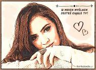 eKartki Wyraź uczucia -> Czekam na Ciebie Ciągle o Tobie myślę!,