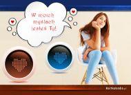 eKartki elektroniczne z tagiem: Myślę o Tobie Moje myśli,