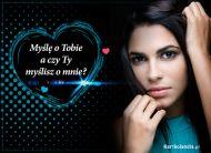 eKartki elektroniczne z tagiem: Kartka myślę o Tobie Myślisz o mnie?,
