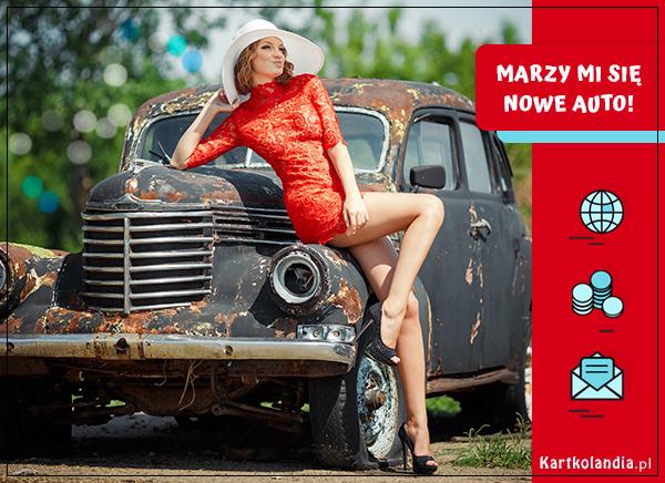eKartki Wyraź uczucia -> Marzenia Nowe auto,