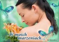 eKartki elektroniczne z tagiem: Darmowa e-kartka marzenia W moich marzeniach...,