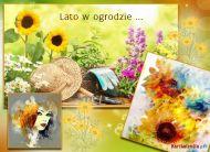 eKartki Cztery Pory Roku Lato w ogrodzie,