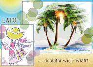 eKartki Cztery Pory Roku Letni, ciepły wiatr,