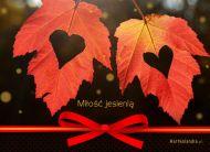 eKartki elektroniczne z tagiem: Kartki jesień Miłość jesienią,