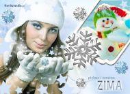 eKartki Cztery Pory Roku Piękna i mroźna zima,