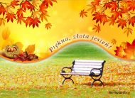 eKartki Cztery Pory Roku Piękna, złota jesień,