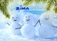 eKartki Cztery Pory Roku Śnieżne bałwanki,