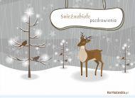 eKartki Cztery Pory Roku Śnieżnobiałe pozdrowienia,