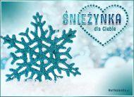 eKartki Cztery Pory Roku Śnieżynka,