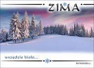 eKartki elektroniczne z tagiem: Kartki zima Wszêdzie bia³o,