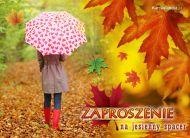 eKartki Cztery Pory Roku Zapraszam na jesienny spacer,