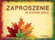 eKartki elektroniczne z tagiem: Jesieñ Zaproszenie na jesienny spacer,