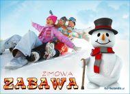 eKartki elektroniczne z tagiem: Kartki zima Zimowa zabawa,