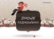 eKartki Cztery Pory Roku Zimowy ptaszek,