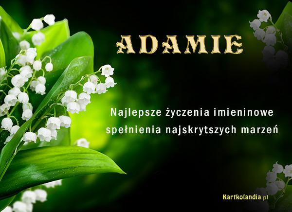 ¯yczenia dla Adama