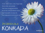 eKartki Imienne mêskie ¯yczenia dla Konrada,