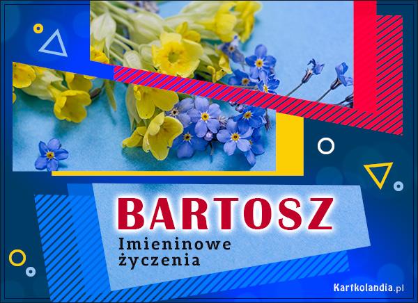 eKartki elektroniczne z tagiem: Kwiaty Bartosz - Imieninowe Życzenia,