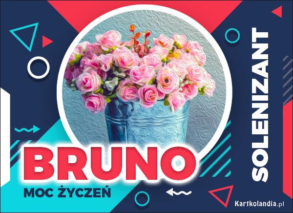 eKartki elektroniczne z tagiem: Życzenia na imieniny Bruno - Moc Życzeń!,