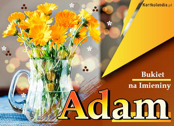 eKartki elektroniczne z tagiem: Kwiaty Bukiet na Imieniny dla Adama,