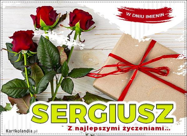 eKartki elektroniczne z tagiem: Kwiaty Sergiusz - Z najlepszymi życzeniami,