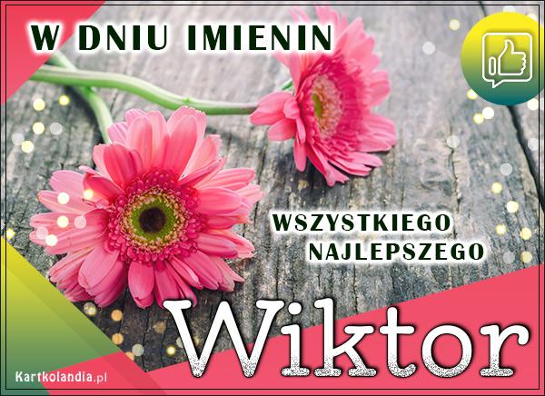 eKartki elektroniczne z tagiem: Kwiaty W dniu Imienin Wiktora,