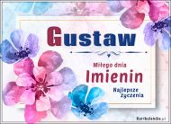 eKartki Imienne Męskie Gustaw - Miłego dnia Imienin!,