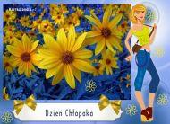 eKartki Dzień Chłopaka Kartka z kwiatami,