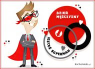 eKartki elektroniczne z tagiem: Kartka dla Mężczyzny Jesteś SuperMan,