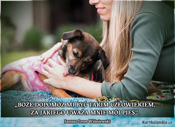 eKartki Złote Myśli Mój pies i Ja,