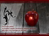 eKartki Złote Myśli Czerwone jabłko,