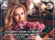 eKartki Złote Myśli Życie usłane różami!,