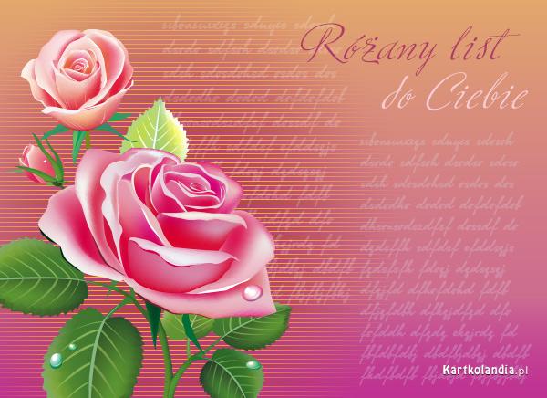 Różany list