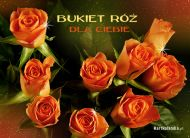 eKartki Kwiaty Bukiet róż dla Ciebie,