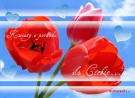 eKartki   Kwiaty o poranku dla Ciebie,