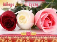 eKartki Kwiaty Mi³ego dnia Ci ¿yczê,