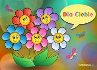 eKartki Kwiaty Wesołe kwiatuszki,