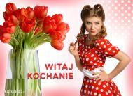 eKartki Kwiaty Witaj Kochanie,