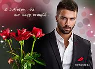 eKartki Kwiaty Z bukietem róż,