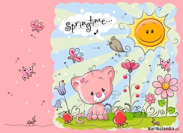 eKartki elektroniczne z tagiem: Wiosna Czas wiosny,