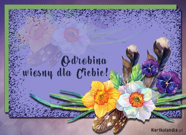 eKartki elektroniczne z tagiem: Wiosna Odrobina wiosny dla Ciebie,