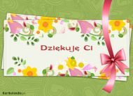 eKartki elektroniczne z tagiem: Darmowe e-kartki kwiaty Dziêkujê Ci,